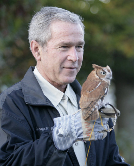 USA President and the owl! | Amonamon2's Blog