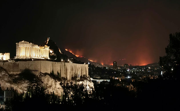 wildfires-in-athens-parthenon