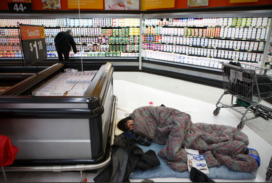 Homeless at Walmart