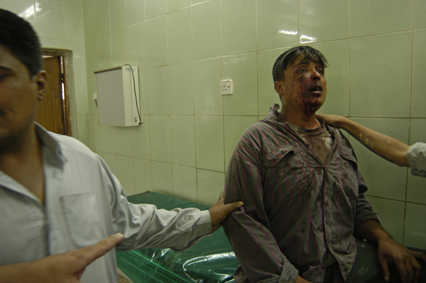 Stabbed by uncle, Baghdad