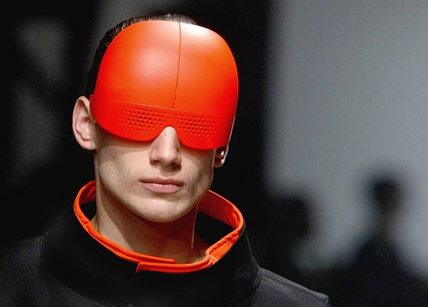 fashion week red cyborg