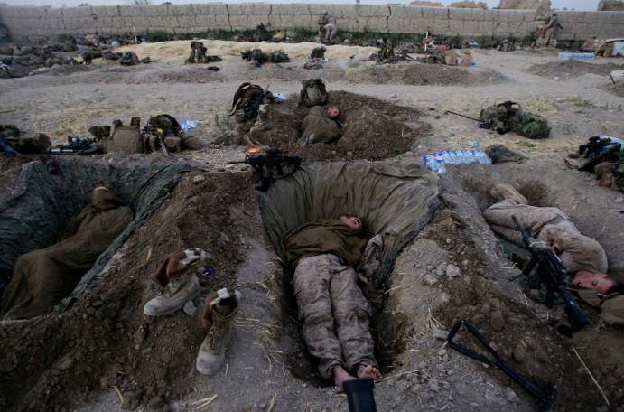 foxholes-graves Afghanistan