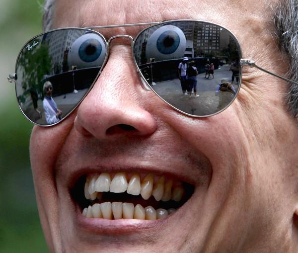 Tassett Eye reflected in sunglasses