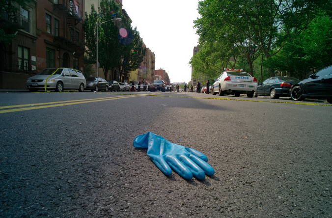 rubber glove on NY street