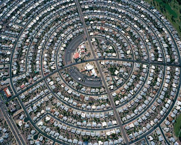 Phoenix sprawl aerial photo