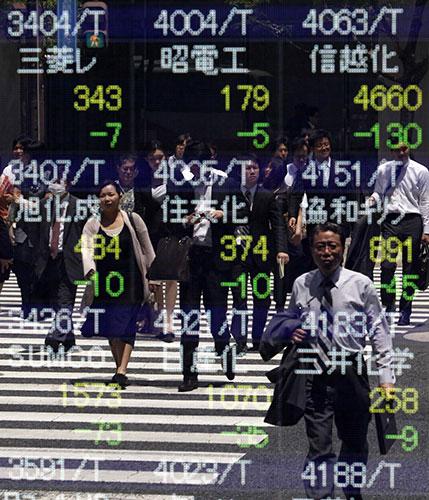Tokyo Pedestrians stock market