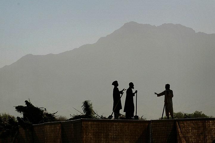 Afghan laborers