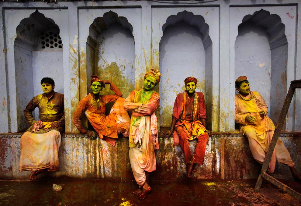 Holi festival backstage