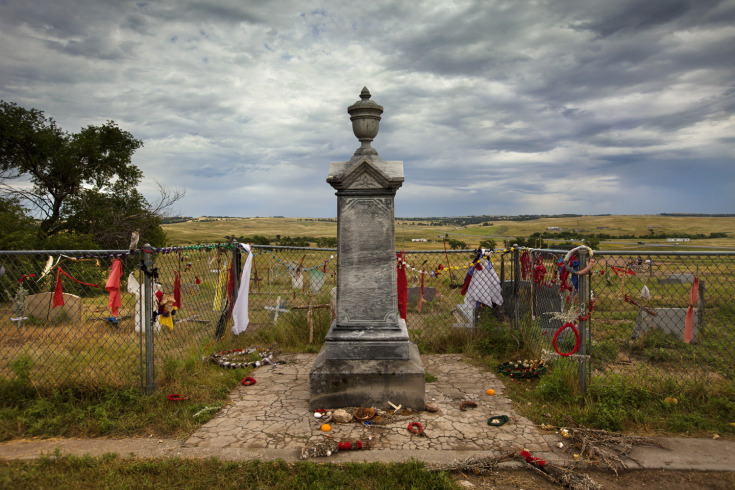 Mass grave at the site of the 1890 Wounded Knee Massacre.