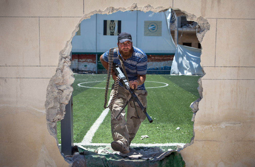 Syria fighter, football field