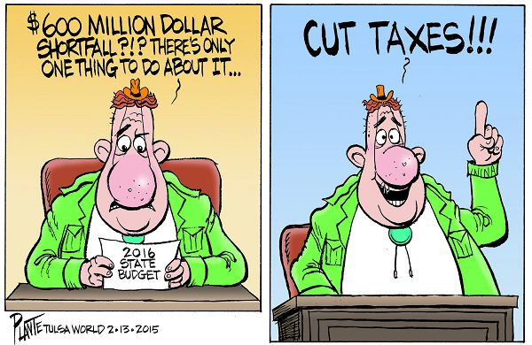 Bruce Plante Cartoon: The answer to Oklahoma's $600 million doll