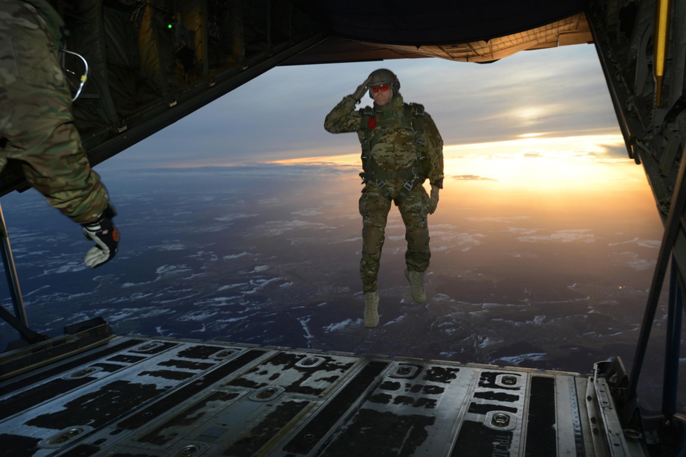 Airborne salute
